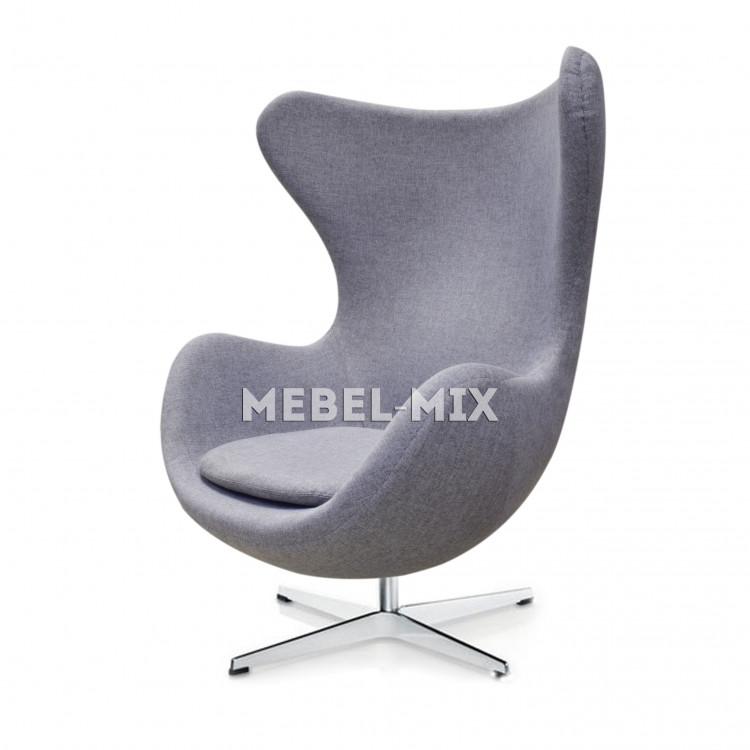 Кресло Egg Chair, серое