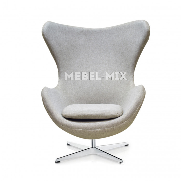 Кресло Egg Chair, светло-серое