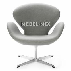 Кресло Swan Chair светло-серое