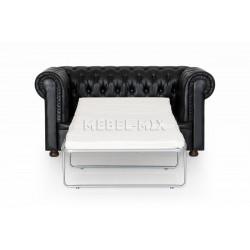Двухместный диван Честер Chester из кожи, темно-коричневый