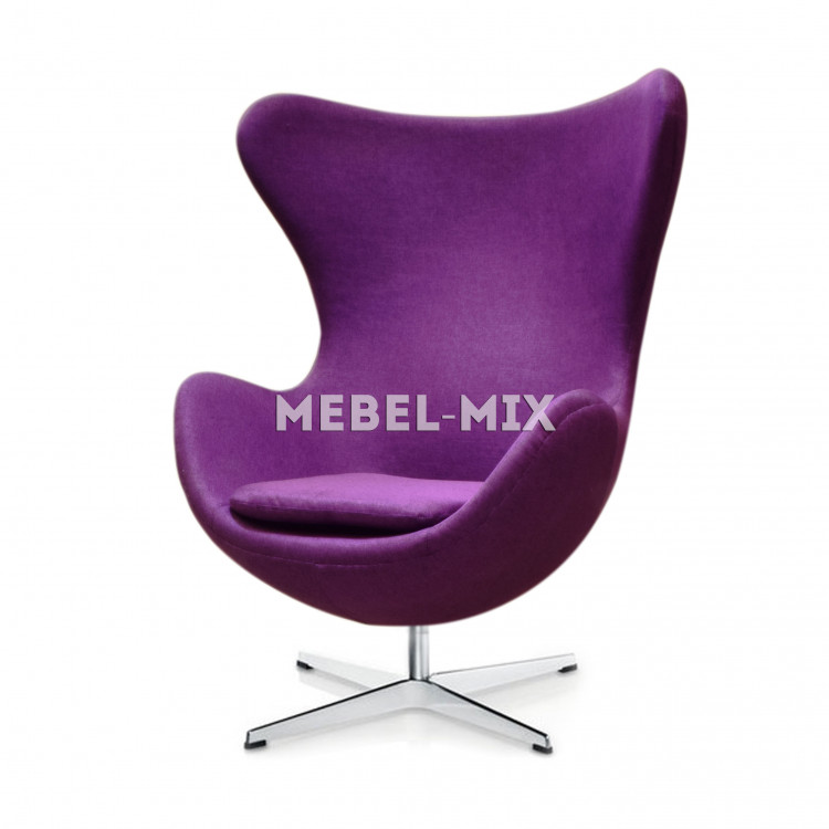 Кресло Egg Chair, фиолетовое