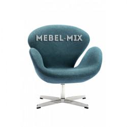 Кресло Swan Chair сине-зеленое