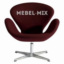 Кресло Swan Chair бордо