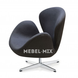Кресло Swan Chair темно-серое