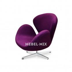 Кресло Swan Chair лиловое