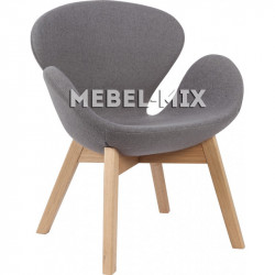 Кресло Swan Chair молочного цвета