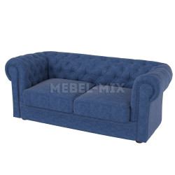 Двухместный диван Честер Chester, синий