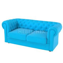 Двухместный диван Честер Chester, голубой