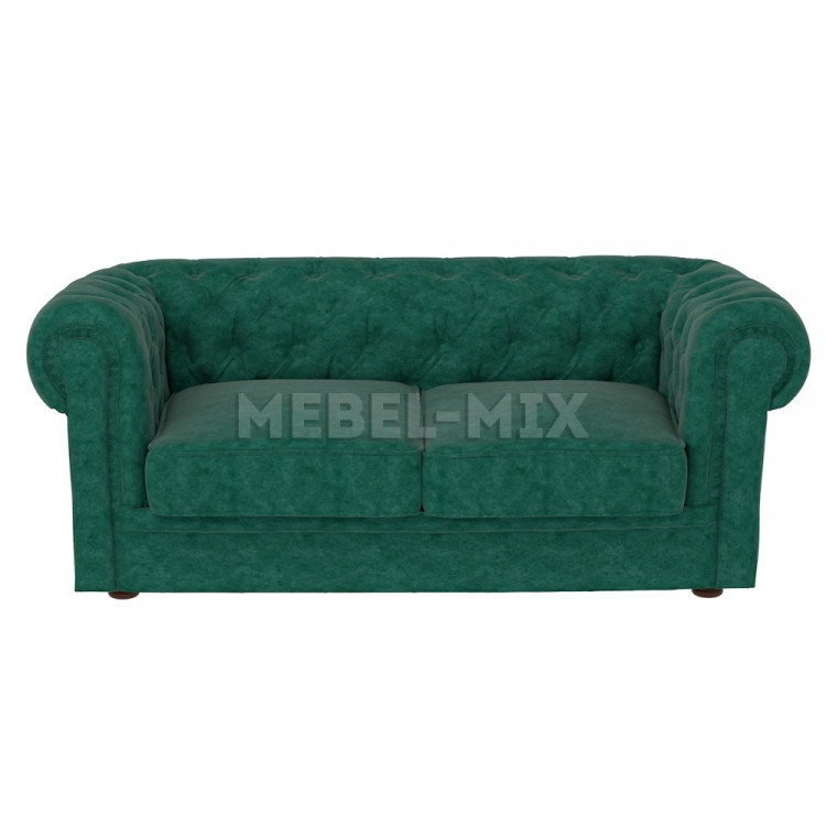 Двухместный диван Честер Chester, зеленый