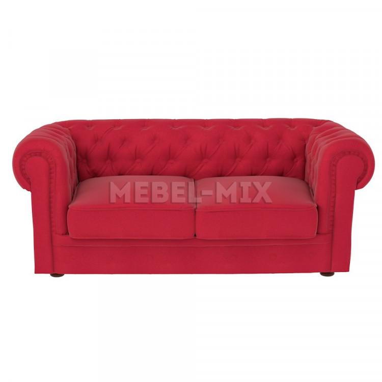 Двухместный диван Честер Chester, красный