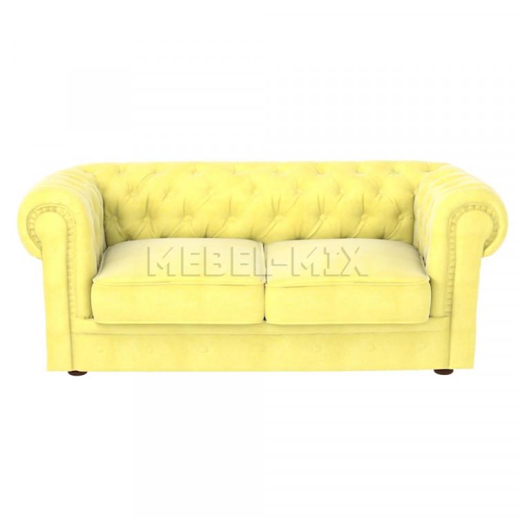 Двухместный диван Честер Chester, желтый