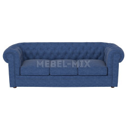 Трехместный диван Честер Chester, синий