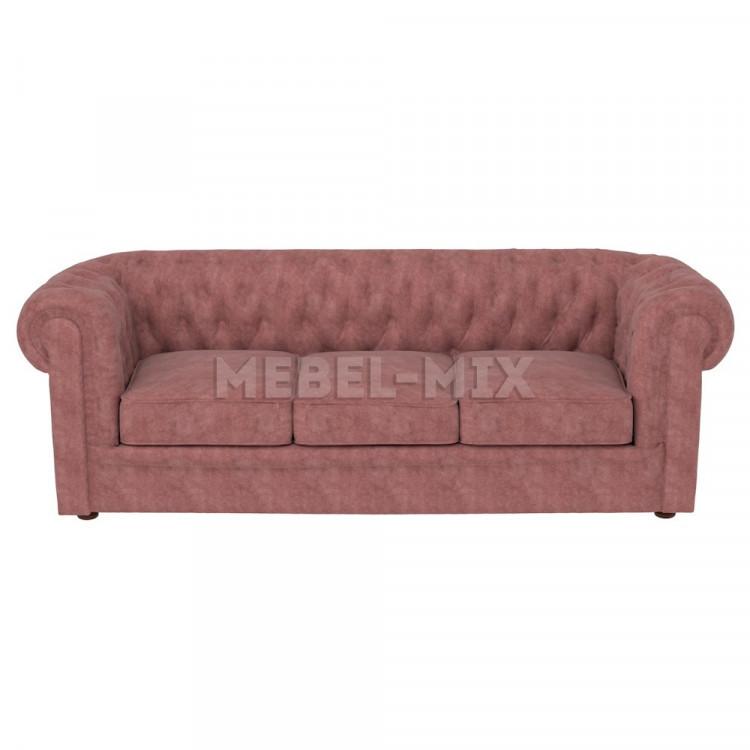 Трехместный диван Честер Chester, коричневый