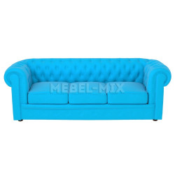 Трехместный диван Честер Chester, голубой