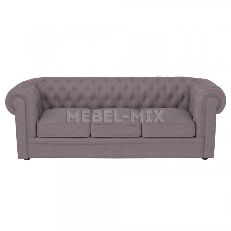 Трехместный диван Честер Chester, серый