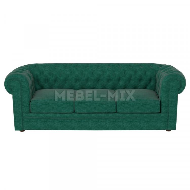 Трехместный диван Честер Chester, зеленый