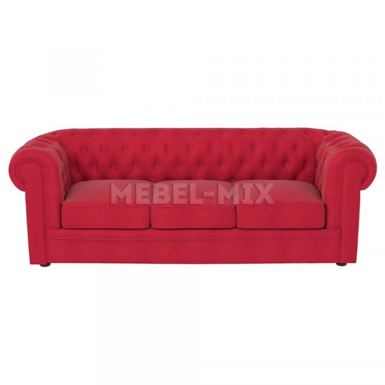 Трехместный диван Честер Chester, красный
