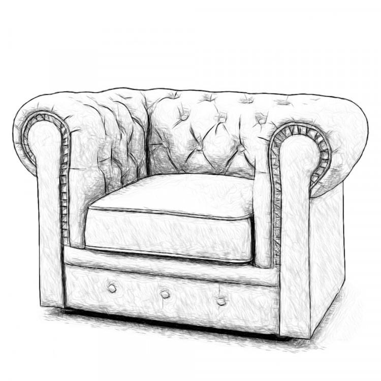 Кресло Честер Chester, в любой ткани