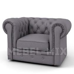 Кресло Честер Chester, мокрый асфальт