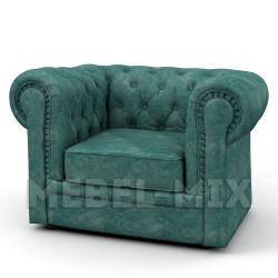Кресло Честер Chester , бирюзовое