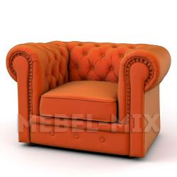 Кресло Честер Chester, апельсиновое