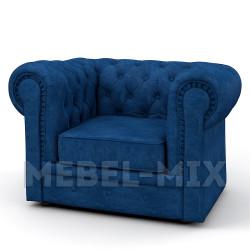 Кресло Честер Chester, темно-синее