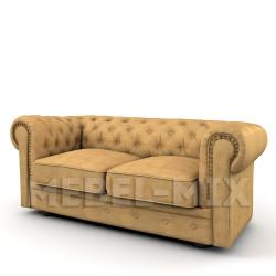 Двухместный диван Честер Chester, песочный
