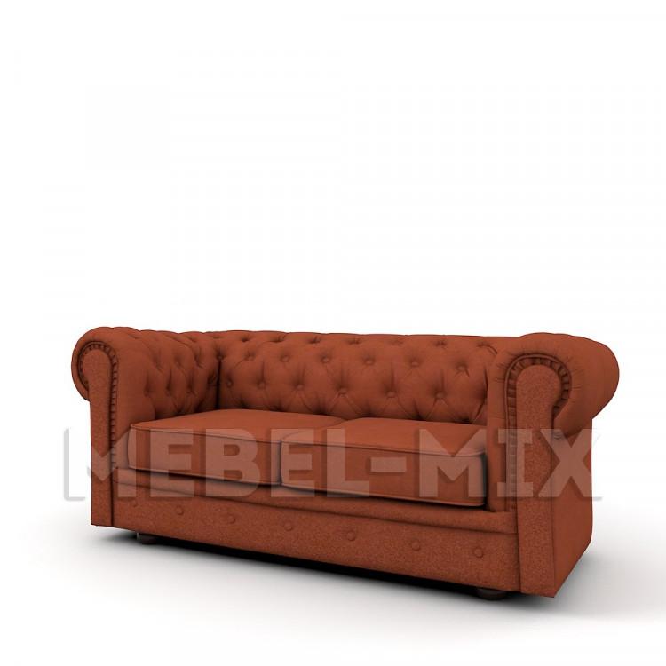 Двухместный диван Честер Chester, терракотовый