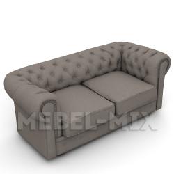 Двухместный диван Честер Chester, глубокий серый