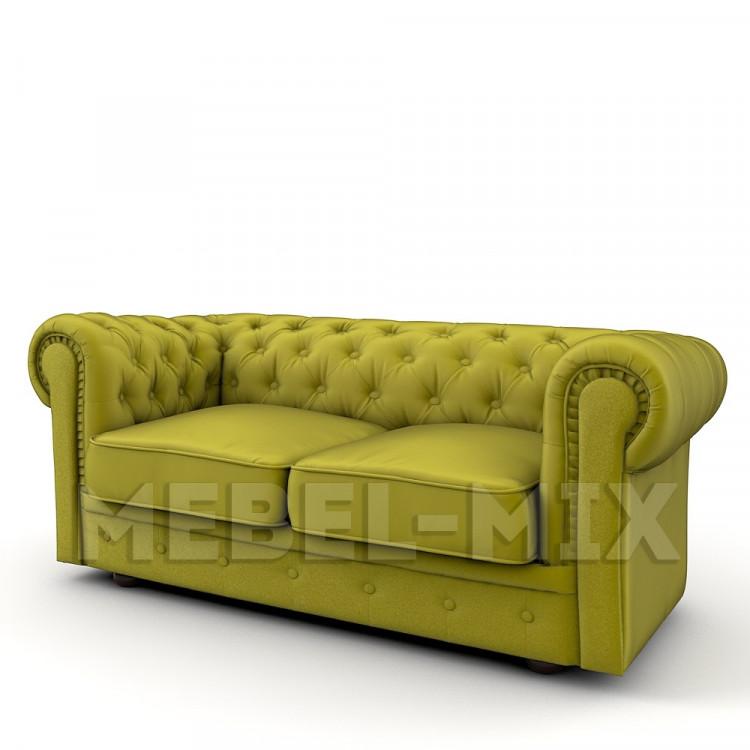 Двухместный диван Честер Chester, желтый карри