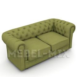 Двухместный диван Честер Chester, оливковый