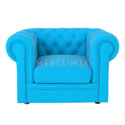 Кресло Честер Chester, голубое