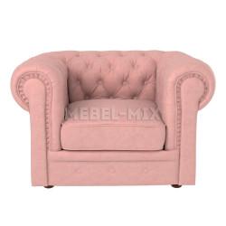 Кресло Честер Chester, нежно-розовое