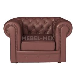 Кресло Честер Chester из кожи, коричневое