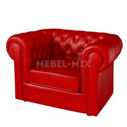 Кресло Честер Chester из кожи, красное