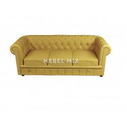 Трехместный диван Честер Chester, шинилл желтый