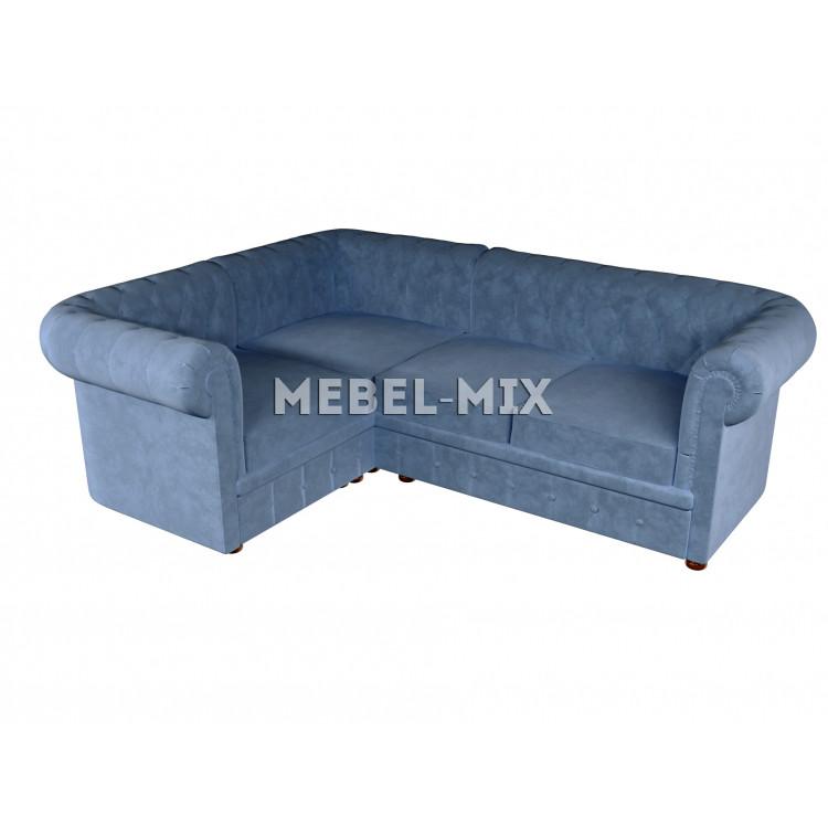 Четырехместный диван Chester кашемир, голубой