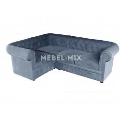 Четырехместный диван Chester веллюто, серый