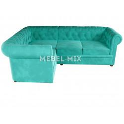 Четырехместный диван Chester веллюто, бирюзовый