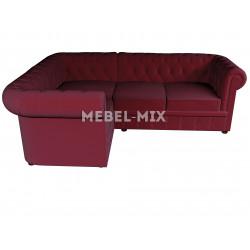 Четырехместный диван Chester микровелюр, спелая вишня