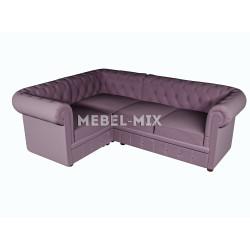 Четырехместный диван Chester микровелюр, сиреневый