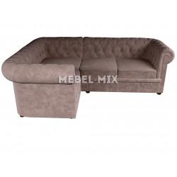 Четырехместный диван Chester микровелюр, кофе