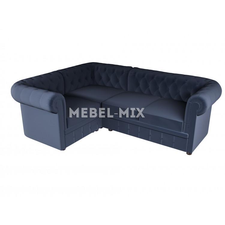 Четырехместный диван Chester микровелюр, синий