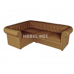 Четырехместный диван Chester из замши, бренди