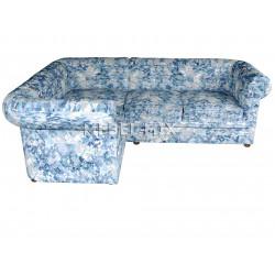 Четырехместный диван Chester велюр, призма синяя
