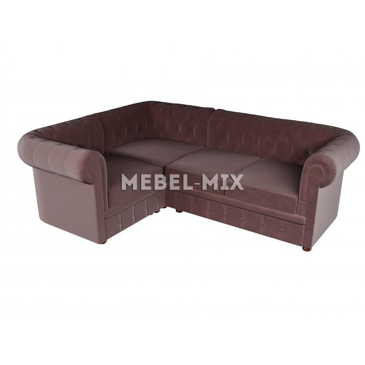 Четырехместный диван Chester микровелюр, шоколад