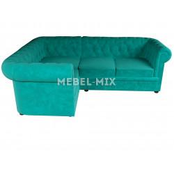 Четырехместный диван Chester кашемир, бирюзовый