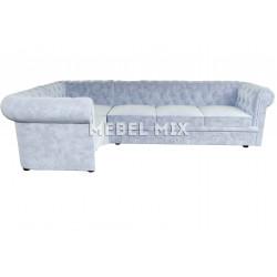 Пятиместный диван Chester кашемир, серо-голубой