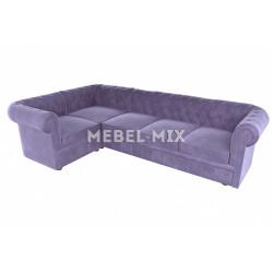 Пятиместный диван Chester веллюто, сиреневый