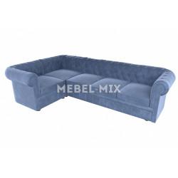 Пятиместный диван Chester веллюто, серо-синий